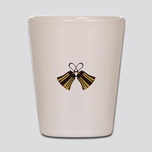 Crossed Handbells Shot Glass