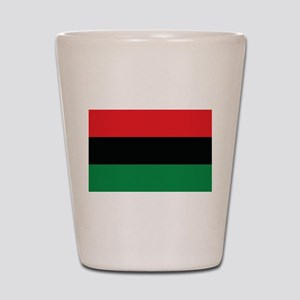 The Red, Black and Green Flag Shot Glass