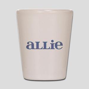 Allie Blue Glass Shot Glass