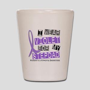 I Wear Violet 37 Hodgkin's Lymphoma Shot Glass