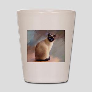 Cat 613 siamese Shot Glass