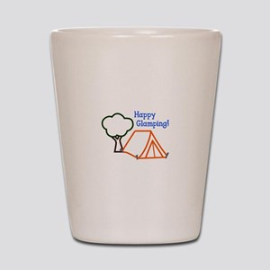 HAPPY GLAMPING APPLIQUE Shot Glass