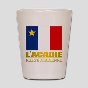 Acadian Flag Shot Glass