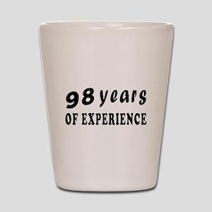98 years birthday designs Shot Glass