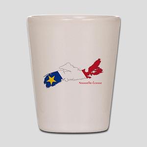 Acadian Flag Nova Scotia Shot Glass