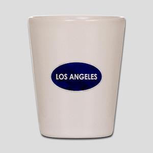 Los Angeles Blue Stone Shot Glass