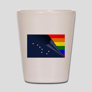 Alaska Gay Pride Rainbow Shot Glass