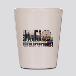 Santa Monica Logo pier beach flora Shot Glass