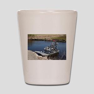 Florida swamp airboat 2 Shot Glass