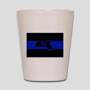 Thin Blue Line - Massachusetts Shot Glass