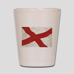 Alabama Sate Flag Grunge Shot Glass