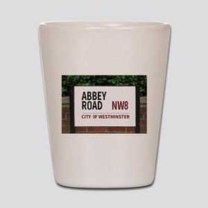 Abbey Road street sign Shot Glass