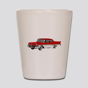 1958 Ford Fairlane 500 Red & White Shot Glass