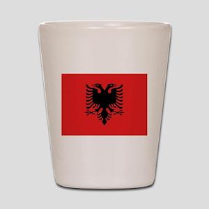 Flag of Albania Shot Glass