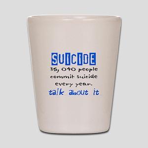 Suicide Statistics Shot Glass