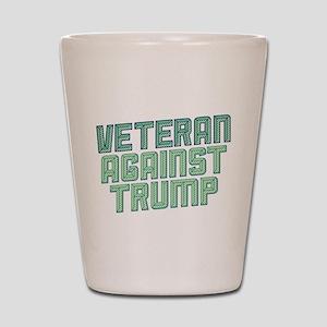 Veteran Against Trump Shot Glass