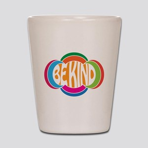 Be Good Be Kind Retro Design Shot Glass