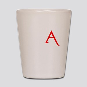 RED A SHIRT SCARLET LETTER EA Shot Glass