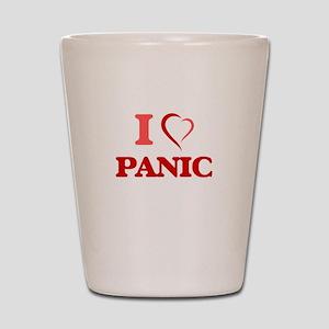 I Love Panic Shot Glass