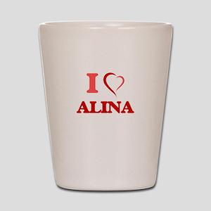 I Love Allie Shot Glass