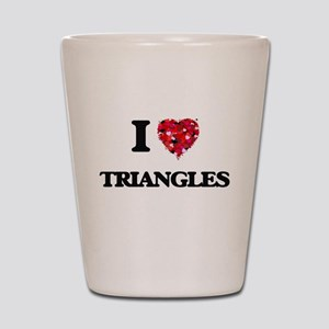 I love Triangles Shot Glass