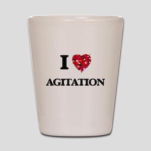 I Love Agitation Shot Glass