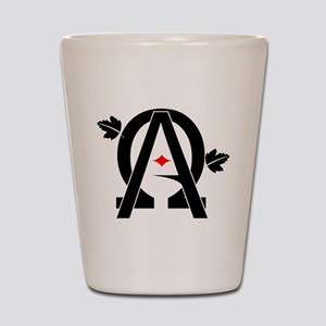 Alpha And Omega Combined Shot Glass