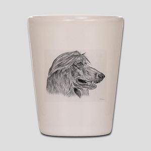 Afghan Hound Shot Glass