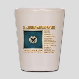 8th Arkansas Infantry (BH2) Shot Glass