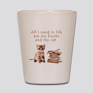 Cats and books Shot Glass