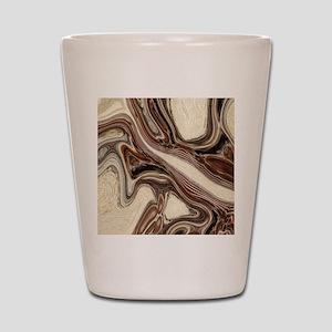 modern swirls Shot Glass
