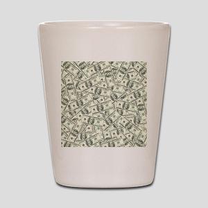 100 Dollar Bill Pattern Shot Glass
