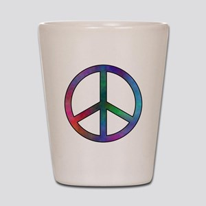 Multicolored Peace Sign Shot Glass