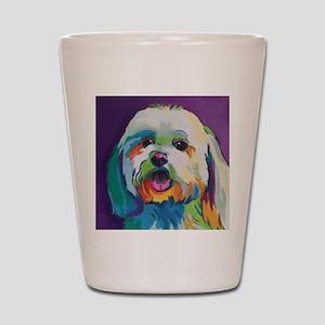 Dash the Pop Art Dog Shot Glass