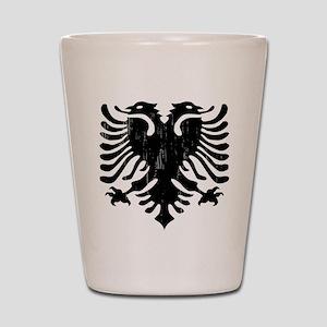 albania_eagle_distressed Shot Glass