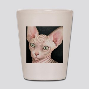 Cat 412 sphynx Shot Glass