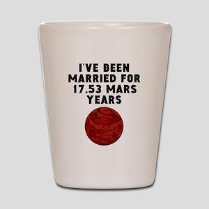 33rd Anniversary Mars Years Shot Glass