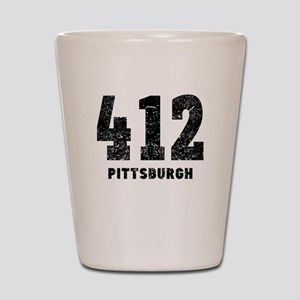 412 Pittsburgh Distressed Shot Glass