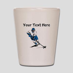 Hockey Player Shot Glass