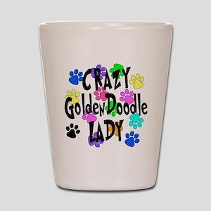 Crazy Goldenddoodle Lady Shot Glass