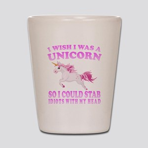 I Wish I Was A Unicorn Shot Glass