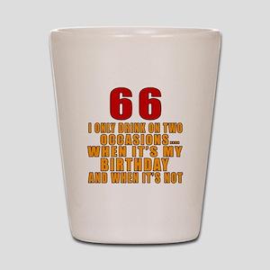 66 Birthday Designs Shot Glass