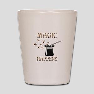 Magic Happens Shot Glass