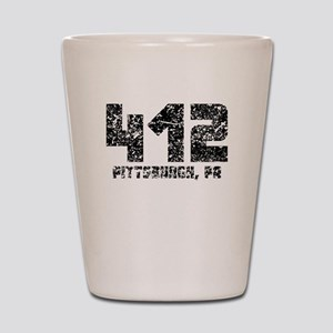 412 Pittsburgh PA Area Code Shot Glass