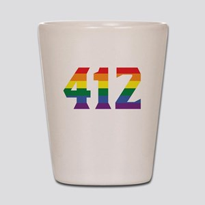 Gay Pride 412 Pittsburgh Area Code Shot Glass
