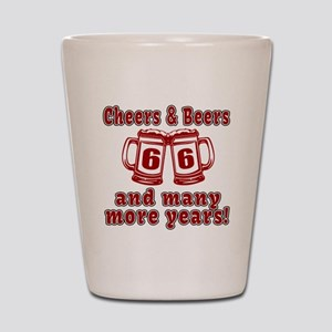 Cheers And Beers 66 And Many More Years Shot Glass