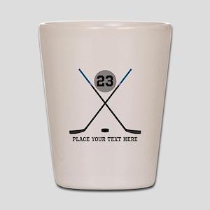 Ice Hockey Personalized Shot Glass