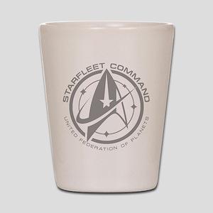 Grey Starfleet Command Emblem Shot Glass