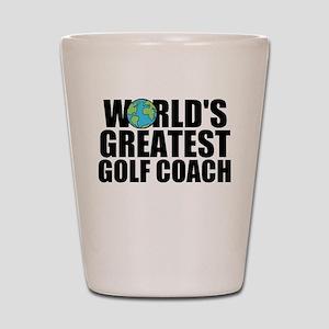 World's Greatest Golf Coach Shot Glass