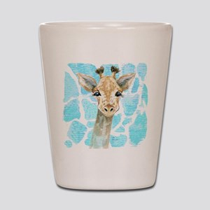 friendly baby giraffe Shot Glass